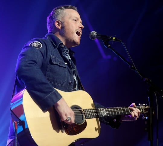 "Jason Isbell performs during the tornado relief benefit concert ""To Nashville, With Love"" at Marathon Music Works on March 9, 2020."