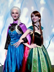 Pictured, from left, Reyna Troi Sands as Elsa and Gracie Pulliam as Anna in the Frozen JR performance that continues this weekend.