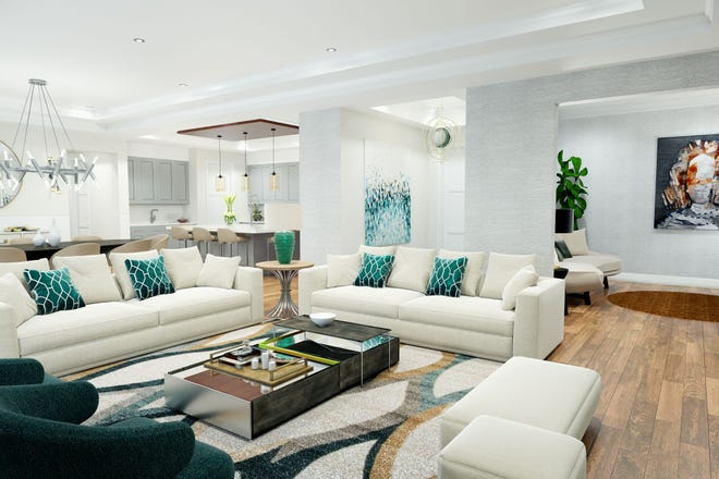 The floor plans at Quattro were designed to live like a single-family home.