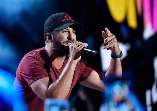 Luke Bryan performs during the CMA Fest on June 9, 2019, in Nashville.