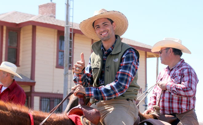 Some of the Mexican riders journeyed two weeks on horseback to reach Columbus, NM.