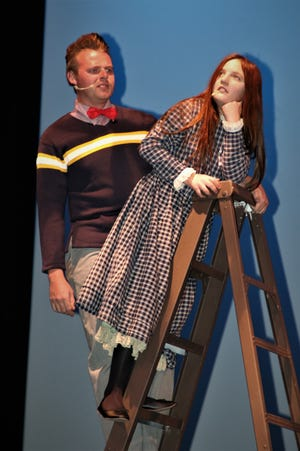 "Kevin Tschetter and Alhanna Valerio are featured in the San Juan College Theatre production of ""Our Town"" continuing this weekend on the college campus in Farmington."