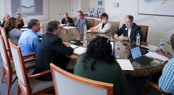 The Desert Sun Editorial Board interviews Rancho Mirage City Council candidates at The Desert Sun in Palm Springs, Calif. on Tuesday, March 10, 2020.