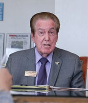 Rancho Mirage City Council candidate Richard Kite answers a question from the Desert Sun Editorial Board at The Desert Sun in Palm Springs, Calif. on Tuesday, March 10, 2020.