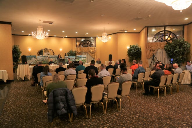 More than 20 people attended a public hearing held by the New York State Bridge Authority at the Poughkeepsie Grand Hotel on March 9, 2020.