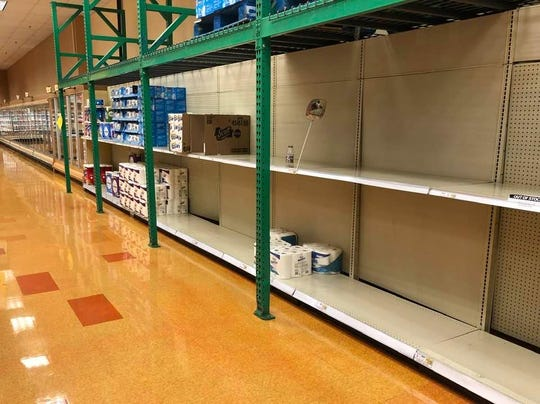 Wegmans Hudson-Titus store in Irondequoit, the morning of Tuesday, March 10