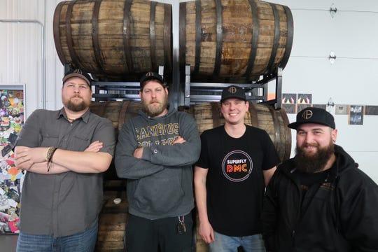 The Mortalis Brewing team (left to right): Paul Grenier, Dave Luckenbach, Josh Bauerlein, and Joey Loehnig.