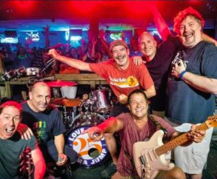 Rusty Rudder's  long-running house band — LoveSeed Mama Jump — will play its last Thursday night deck party of the season outside at 9 p.m.Thursday, Sept. 24. Admission is free.