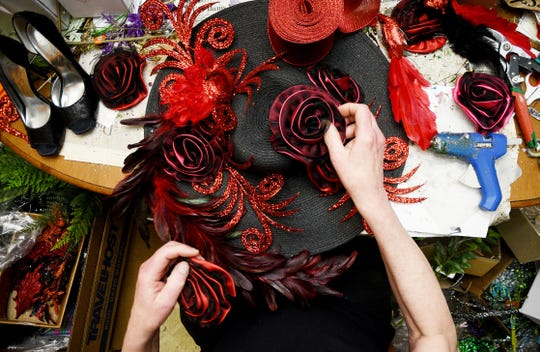 """Hat maker Dennis Beckman will have an exhibit """"The Enchanting World of Fantasy Hats, Masks and Frivolities"""" at Louisiana State Exhibit Museum March 15."""