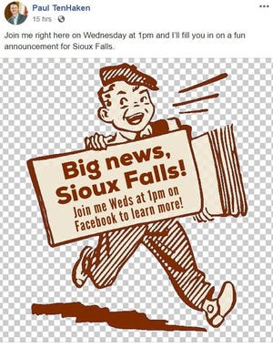 "Mayor Paul TenHaken teases ""fun"" announcement."