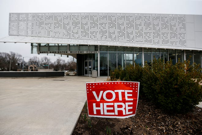 Springfield residents vote at the Missouri State University central polling station on Tuesday, March 10, 2020.