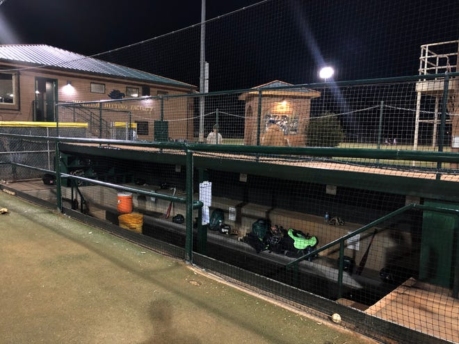 Snow Canyon's dugouts now include netting in front, protecting players and coaches from potential foul balls.