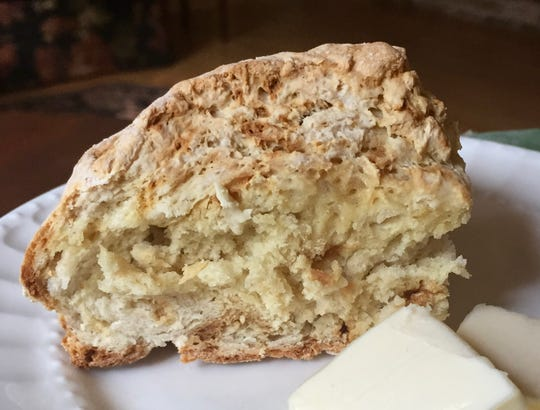 Irish soda bread with butter is great by itself or with Irish stew.