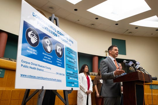 Corpus Christi City Manager Peter Zanoni speaks during a press conference on the areas preparation for the coronavirus on Wednesday, March 11, 2020.