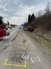 Two people died following a crash on southbound I-75.
