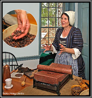 Susan McLellan Plaisted will demonstratethe use of the metate by turning the cacao bean into chocolate from 1 to 4 p.m. on Sunday, April 5,at the Bouman-Stickney Farmstead, 114 Dreahook Road in the Stanton section of Readington.