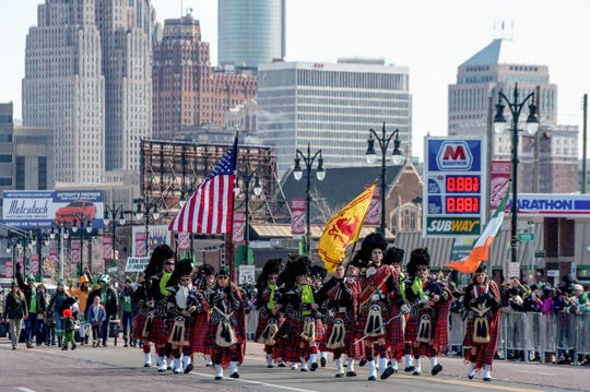 The St. Patrick's Day parade and celebration on Michigan Avenue in Detroit on March 11, 2018.