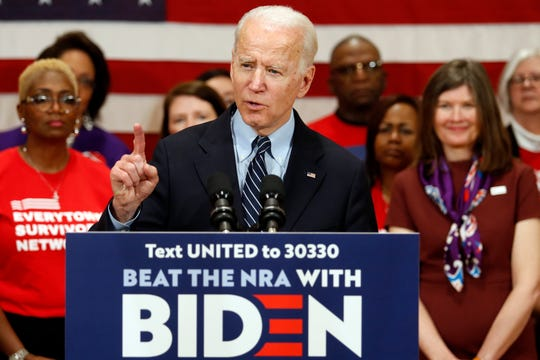 Democratic presidential candidate former Vice President Joe Biden speaks at a campaign event in Columbus, Ohio, Tuesday, March 10, 2020.