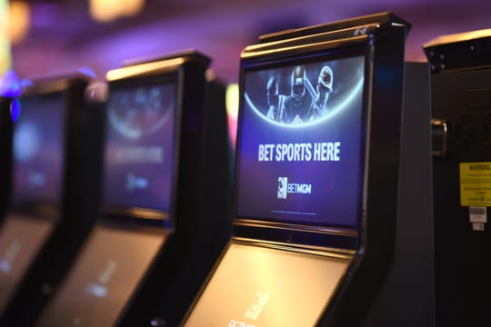 Sports betting kiosk are fully active at the MGM Grand Casino.