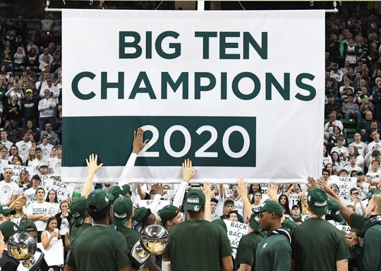 The Michigan State men's basketball team tied for the Big Ten championship this season.