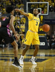 Zavier Simpson finished his Michigan career with a 108-39 record.
