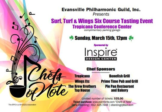 Chefs of Note fundraiser is Sunday at Noon