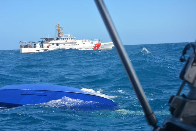 The capsized sailboat of a missing participant in the Water Tribe Everglades Challenge was found by U.S. Coast Guard units off Sanibel Island Tuesday. The boater, Jim Slauson, remains missing.