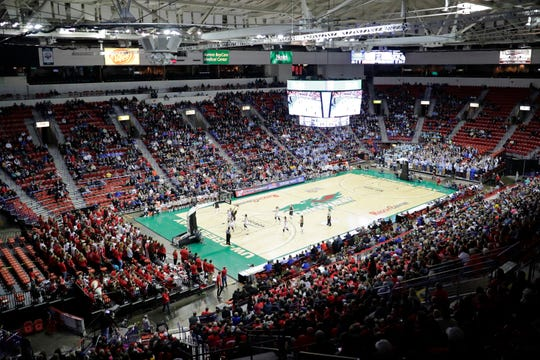 Bay Port plays Kimberly in a Division 1 semifinal at the 2019 WIAA state girls basketball tournament at the Resch Center.