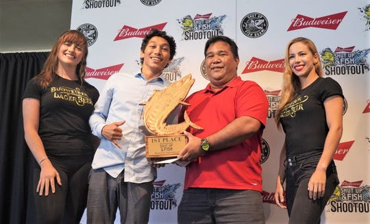 Captain Gus Gumataotao and crew of the Catalina 2 took first place in the Wahoo division at the 2nd Annual Shut up & Fish Mahi & Wahoo Shootout held March 8.