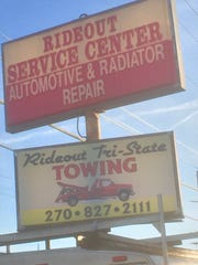 The familiar Rideout Service Center sign on South Green Street.