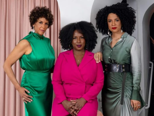 """From left, Elle Johnson, Nicole Jefferson Asher and Janine Sherman Barrois oversaw the production of Netflix series """"Self Made: Inspired by the Life of Madam C.J. Walker."""""""