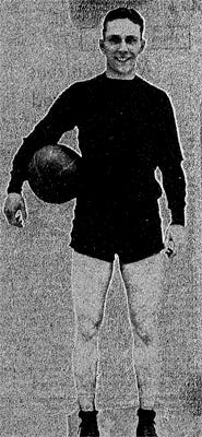 Fuzzy Vandivier was named the top basketball player in the nation by the Chicago Tribune.