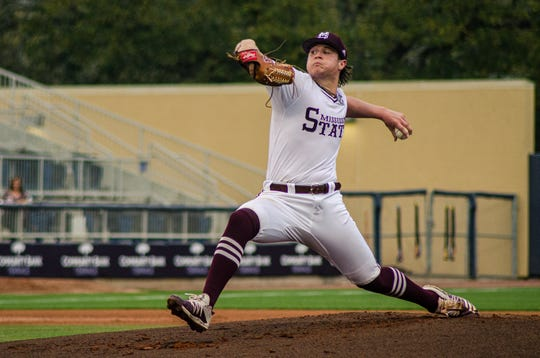 Mississippi State junior Houston Harding surrendered just two runs in 5 and 2/3 innings of work in Mississippi State's 6-3 win over Texas Tech.