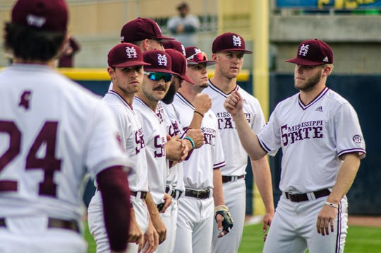 Mississippi State played Texas Tech in a college baseball game at MGM Park in Biloxi on March 10, 2020. The Bulldogs beat the Red Raiders 6-3.