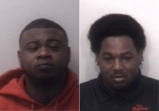Davin Anderson, left, and Jorma Jefferies, right, each face one count of aggravated robbery in connection to the robbery of The Barrel Wine and Spirits in Jackson, Tenn. on March 8, 2020.
