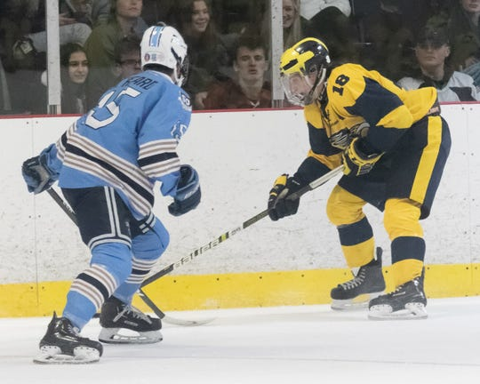 Adam Pietila (18) leads Hartland in scoring with 29 goals and 22 assists.