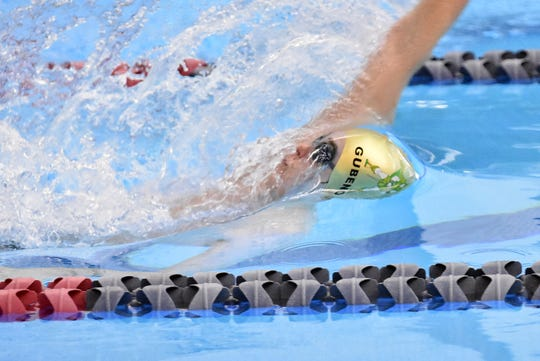 Howell's Hunter Gubeno will compete in the 100-yard backstroke two events after defending his 500 freestyle title in the state meet.