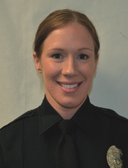 Amanda Keene, patrol officer with the Ontario Police Department, was suspended for three days without pay last month.