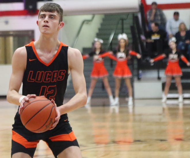 Lucas' Riley Gossom was selected first team All-Mansfield News Journal.