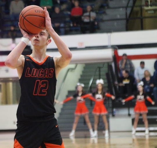 Lucas' Riley Gossom earned first team All-Mid-Buckeye Conference honors in 2019-20.