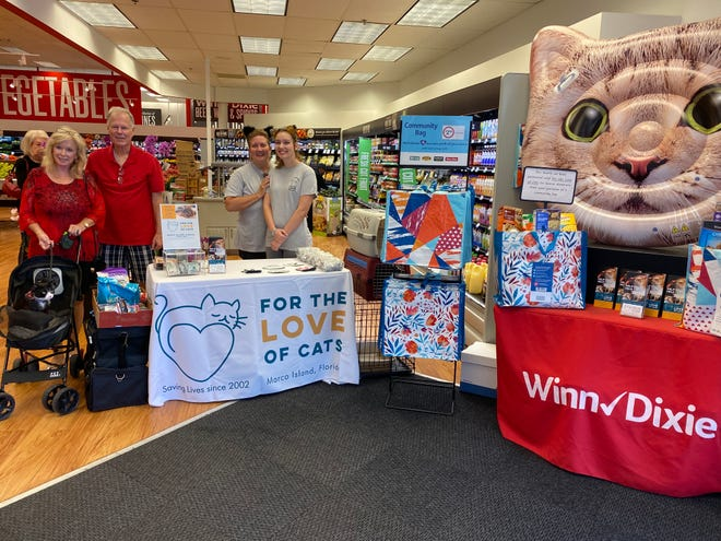 For the Love of Cats was selected as the February beneficiary of the program by store leadership at the Winn Dixie located on Marco Island. For the Love of Cats received a $1 donation every time the $2.50 reusable Community Bag was purchased at this location during February.