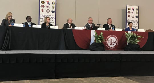 The ULM Presidential Search Committee held its first meeting at Bayou Pointe Event Center on Wednesday.