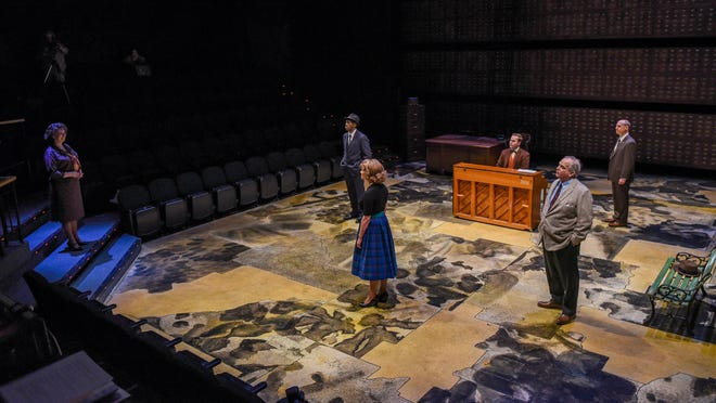 """A scene from Alabama Shakespeare Festival's """"Alabama Story."""" ASF has cancelled all productions and events until further notice due to the coronavirus threat."""