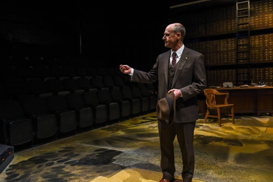 """Christopher Gerson in a scene from """"Alabama Story,"""" which runs through March 22 at Alabama Shakespeare Festival."""