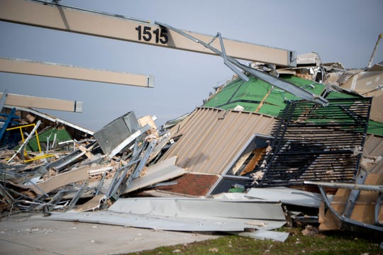 TSU's  Architectural Research and Education Center received damage after a tornado Wednesday, March 11, 2020, in Nashville, Tenn.