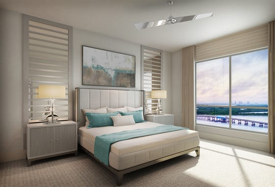 Grandview's master suites will offer bedrooms with either Gulf or bay views.