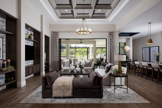 The Clairborne II by Stock is one of the furnished models being showcased at the CBIA Parade of Homes.