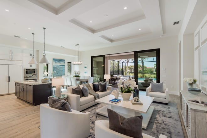 London Bay Homes' Devonshire residence in Mediterra's Cabreo neighborhood is being featured during the 2020 Model Home Showcase that continues today at Mediterra.