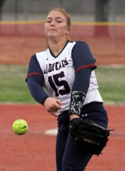 Junior Lady 'Cat hurler Palmira Valentine kept the Santa Teresa Desert Warriors in check Tuesday night  with a 6-0 and 16-1 double-header sweep. Valentine also celebrated her birthday with 5 hits, 5 rbi, including a 3-run walk-off home run to close out the nightcap game.