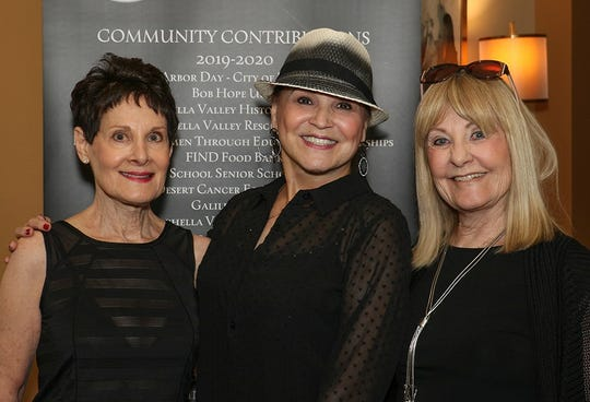 June Weiner, Olga Mores and Katie Berger were among the guests at the Indio Woman's Club luncheon fundraiser on Saturday, Feb. 29, 2020.